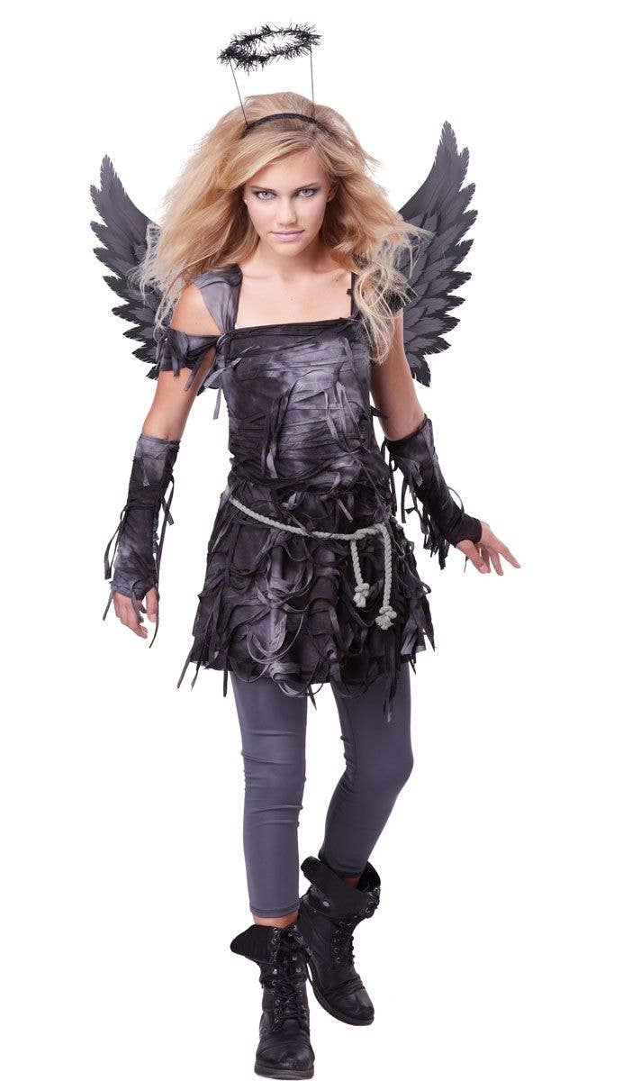 640f12332c229 Fallen Angel Girl's Tween Halloween Costume