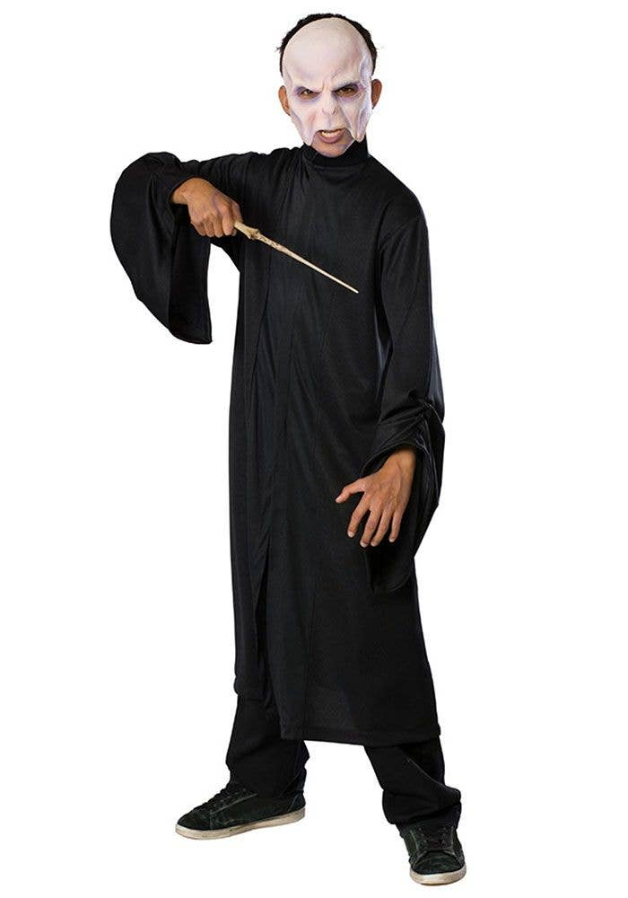 Evil Wizard Kidu0027s Halloween Fancy Dress Costume Front  sc 1 st  Heaven Costumes : dark wizard costume  - Germanpascual.Com