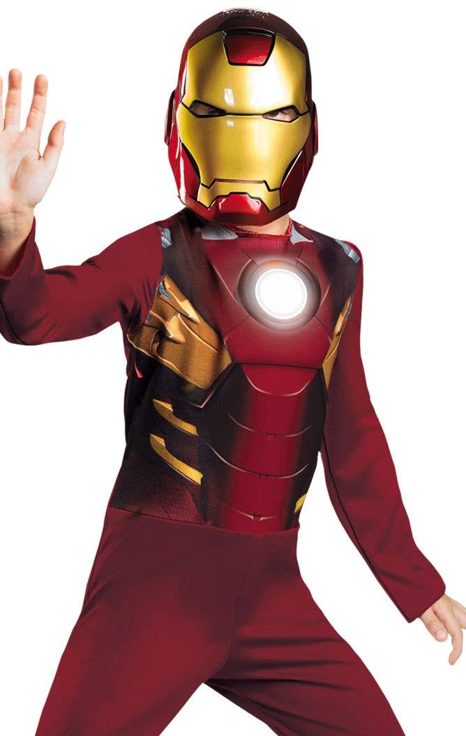 Kids Iron Man Fancy Dress Costume Iron Man Boys Marvel Outfit