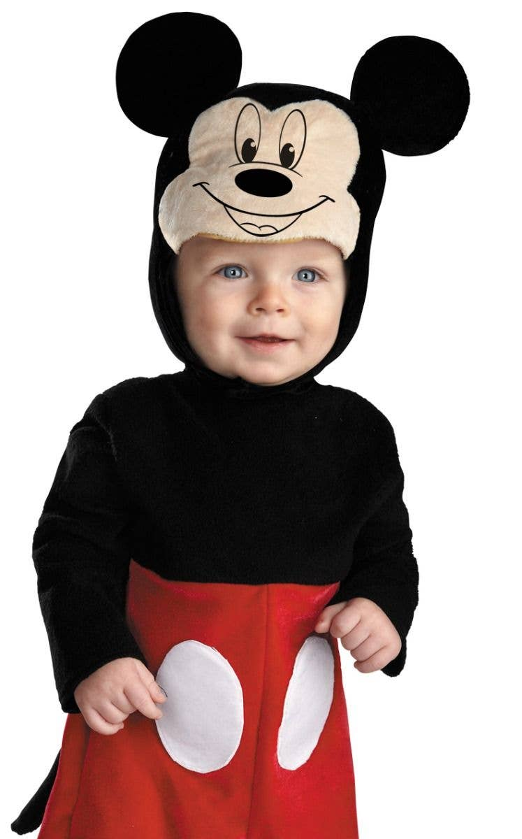 209aad7f4ba Infant Boy s Mickey Mouse Disney Baby Black And Red Fancy Dress Costume  Jumpsuit Close Up Image