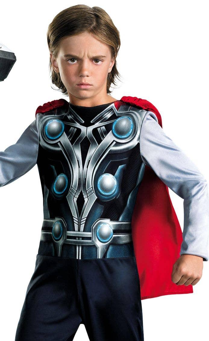 Boys Avengers Superhero Thor Fancy Dress Costume Close Image  sc 1 st  Heaven Costumes & Superhero Thor Boys Costume | Kids Thor Avengers Fancy Dress Costume