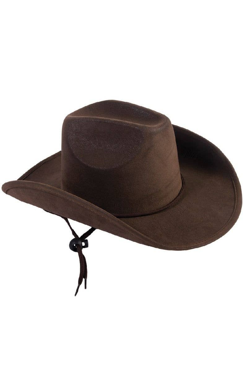 Brown Kid s Suede Look Cowboy Hat Costume Accessory Main Image 7ee55c7559e2