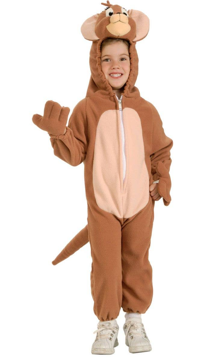 Tom u0026 Jerry Boys Mouse Onesie Costume Main Image  sc 1 st  Heaven Costumes & Tom And Jerry Costume | Kids Jerry The Mouse Onesie Costume