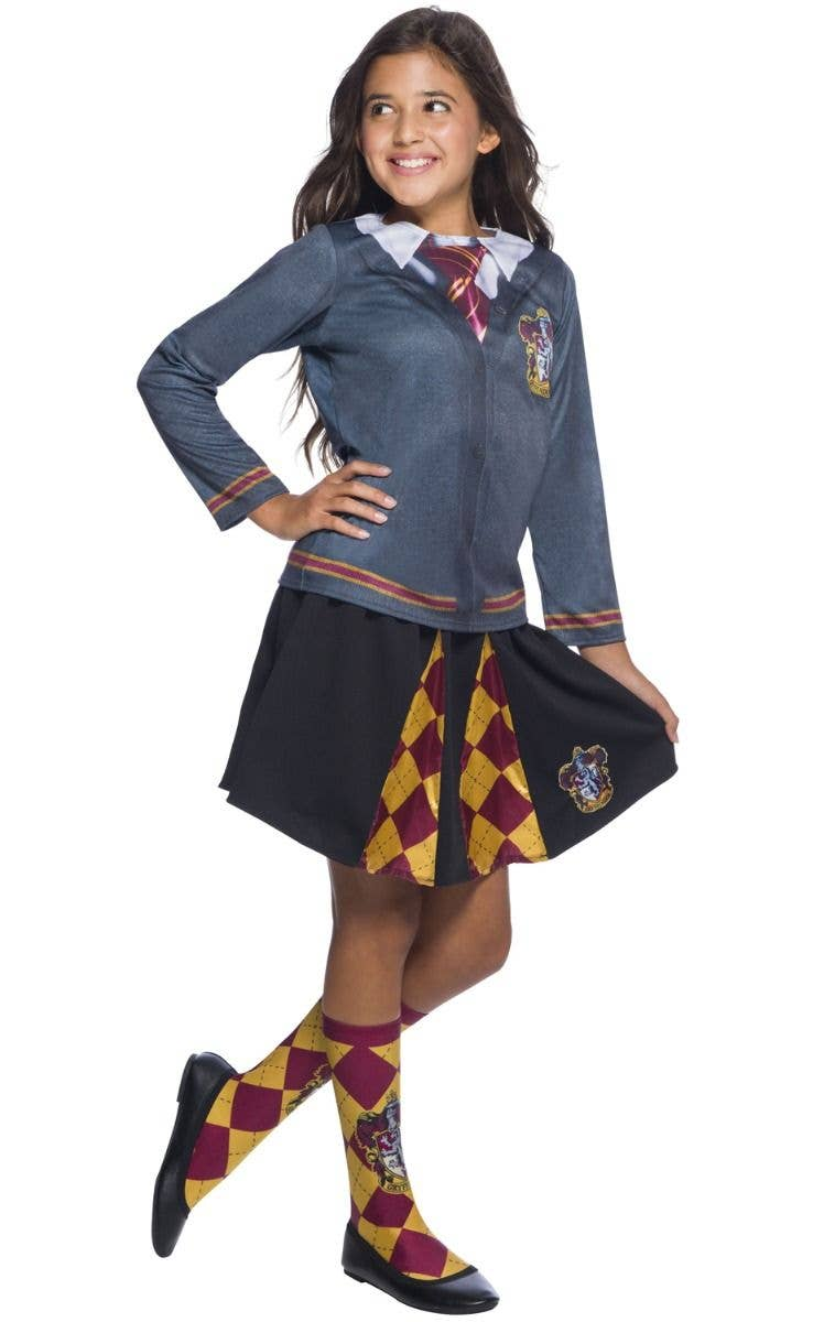 Girl\u0027s Harry Potter Gryffindor Kid\u0027s School Girl Costume Skirt Main Image
