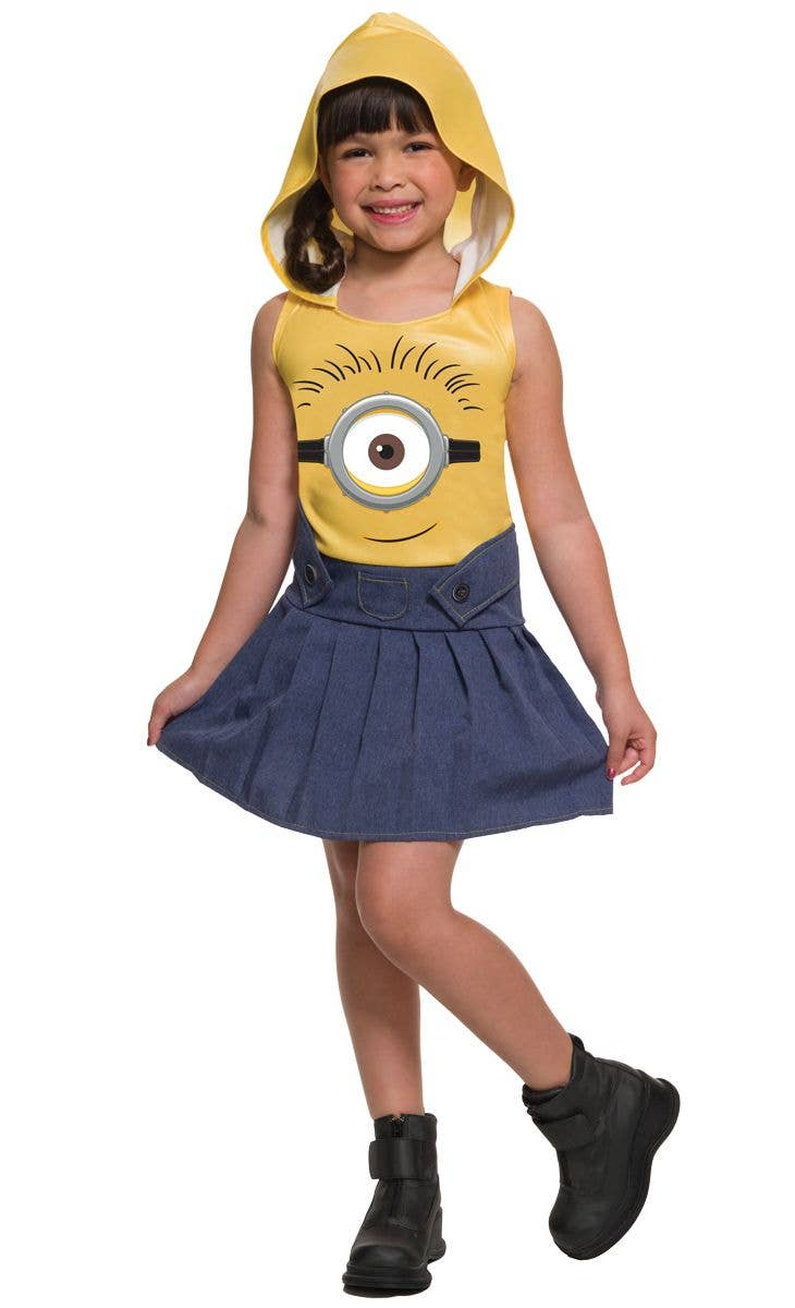Girlu0027s Despicable Me Minion Fancy Dress Costume Main Image  sc 1 st  Heaven Costumes & Despicable Me Minion Girls Costume   Childrenu0027s Minion Costume