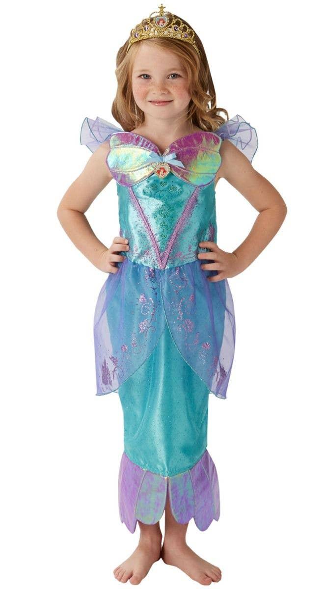 0e63cc83a6 Disney Princess Girl's Deluxe Little Mermaid Ariel Fancy Dress Costume