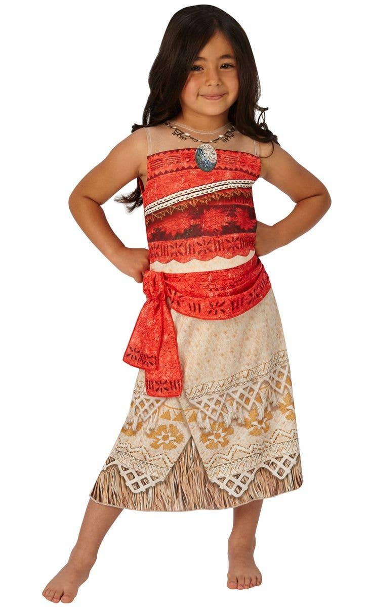 Classic Disney Moana Girls Fancy Dress Costume