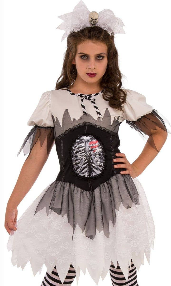 Teen Girls Skeleton Halloween Costume