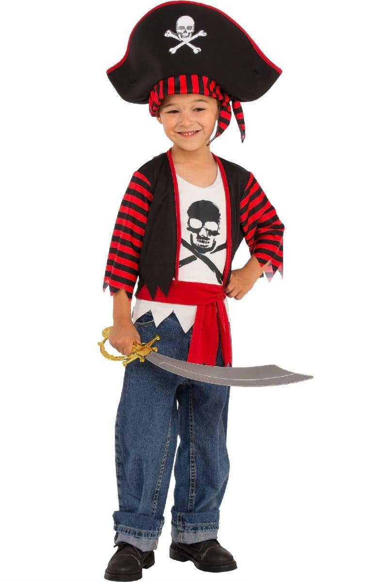 ed489a32 Little Pirate Boys Fancy Dress Costume