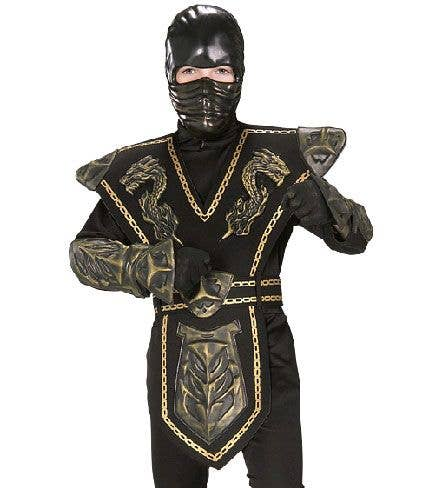 Gold Dragon Boys Ninja Fancy Dress Costume