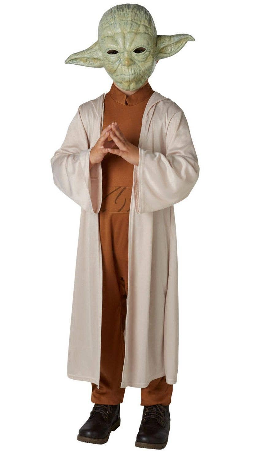 cef87494ffa8e Yoda Jedi Master Star Wars Boys Fancy Dress Costume Main Image