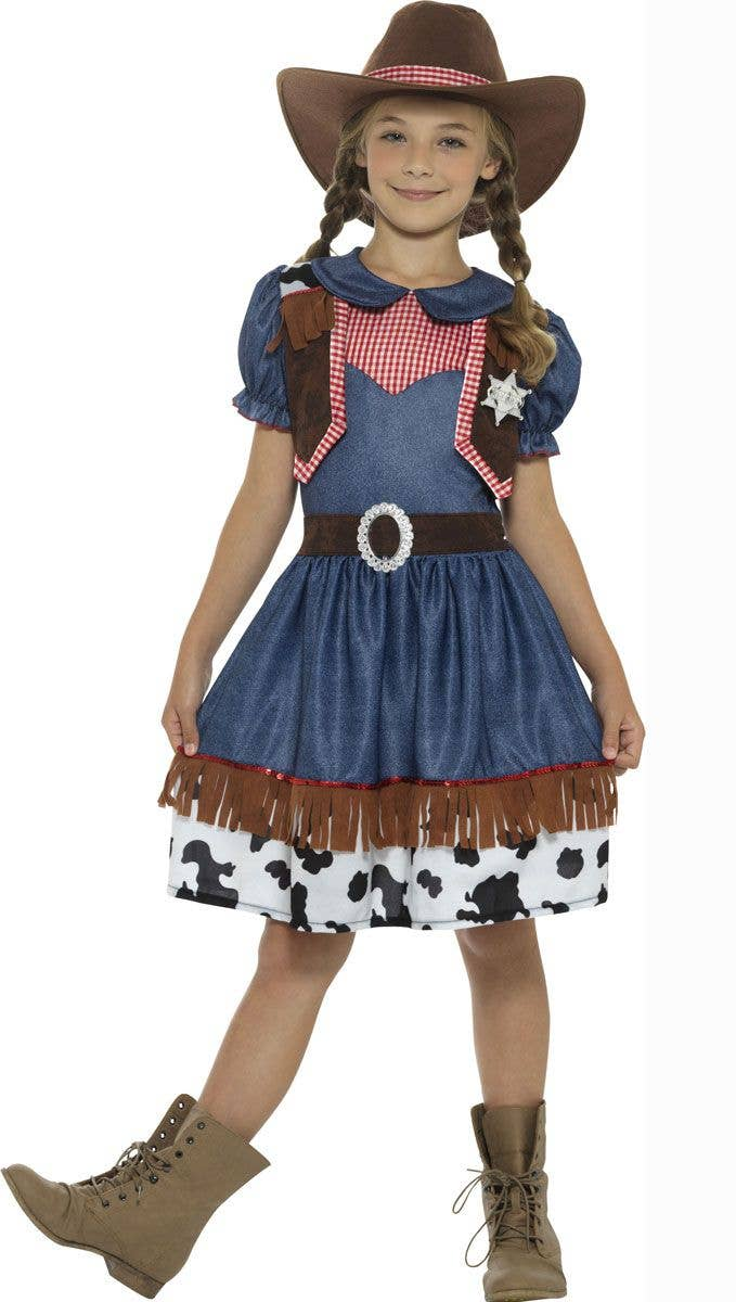 41e4defbbdb3c Texan Cowgirl Kids Book Week Fancy Dress Costume Front Image