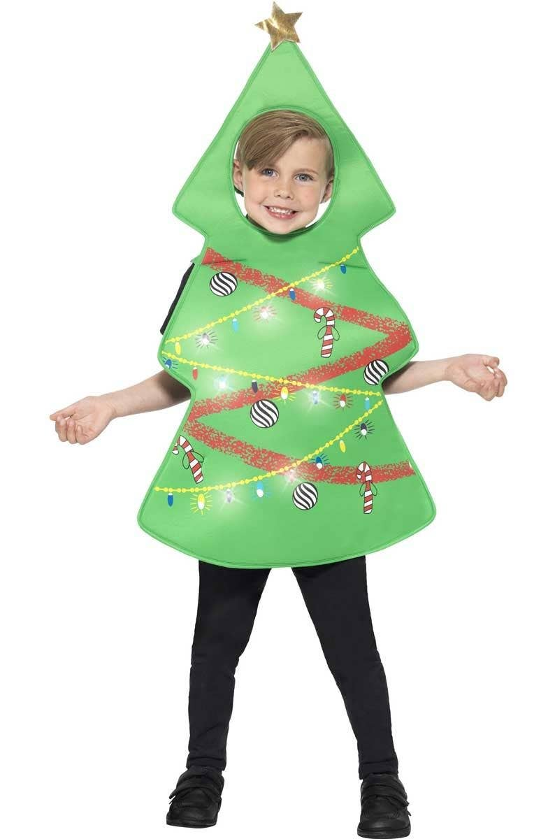 Christmas Fancy Dress Kids.Festive Christmas Tree Kids Fancy Dress Costume