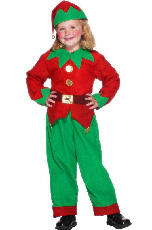 8d60f3290 Boys and Girls Cheap Christmas Elf Costume | Kids Elf Costume