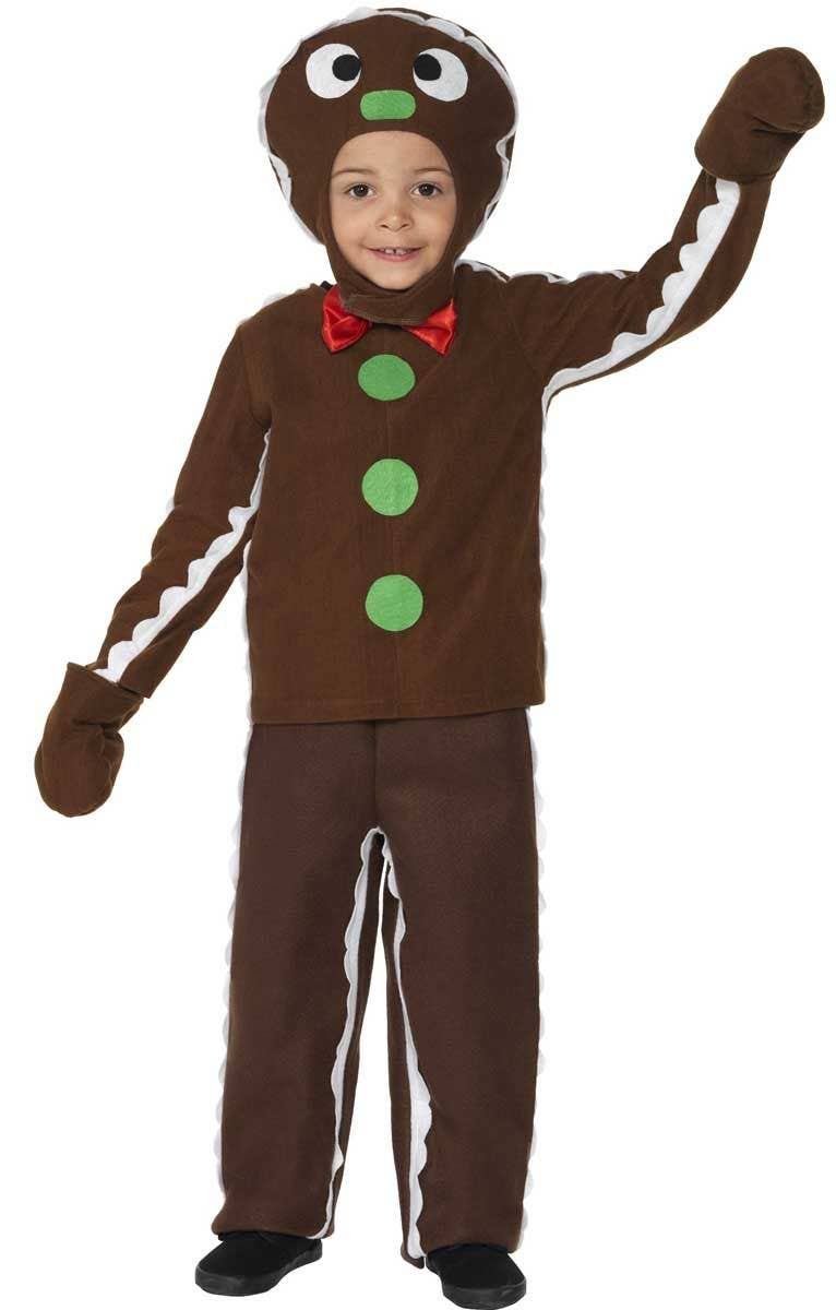 Kidu0027s Gingerbread Man Christmas Costume Front View  sc 1 st  Heaven Costumes & Boyu0027s Gingerbread Man Christmas Costume | Girlu0027s Gingerbread Costume