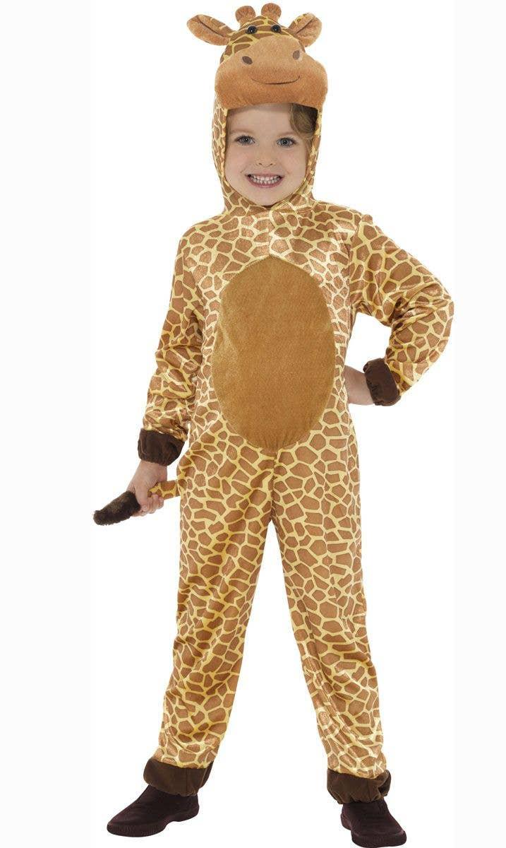 b7568ac56164 Kids Giraffe Animal Onesie Book Week Fancy Dress Costume Front