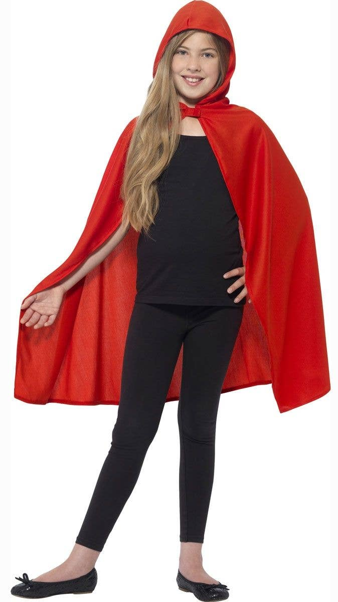 adc582e4d Hooded Red Costume Cape For Kids | Red Riding Hood Costume Cape