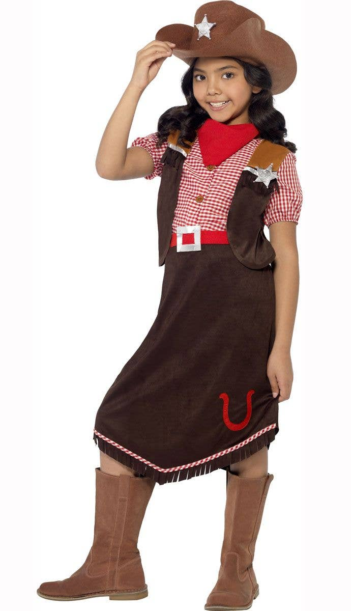 861b72a30 Western Girl s Cowgirl Costume Front View