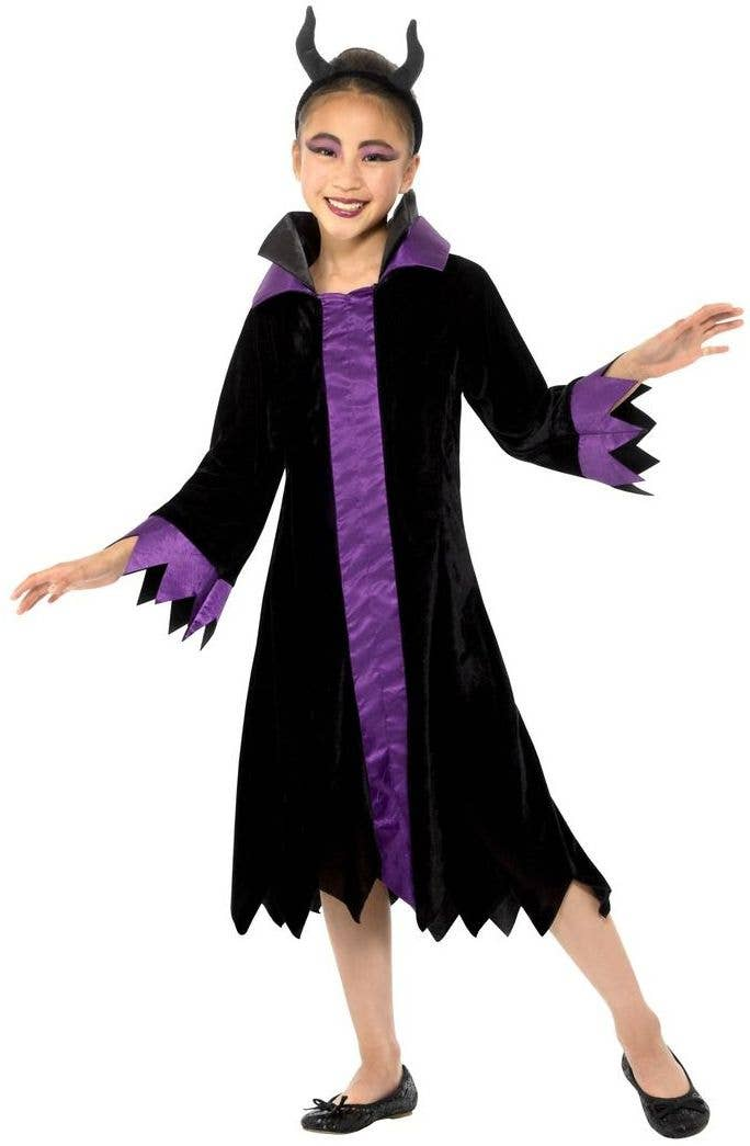 f9fda7a77 Halloween Evil Queen Girls Outfit | Girls Wicked Queen Dress Costume