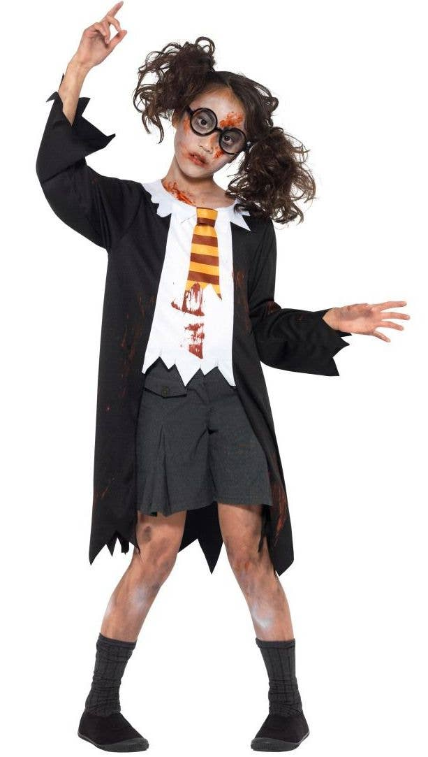 Halloween Zombie Costumes For Girls.Zombie Student Girls Halloween Costume