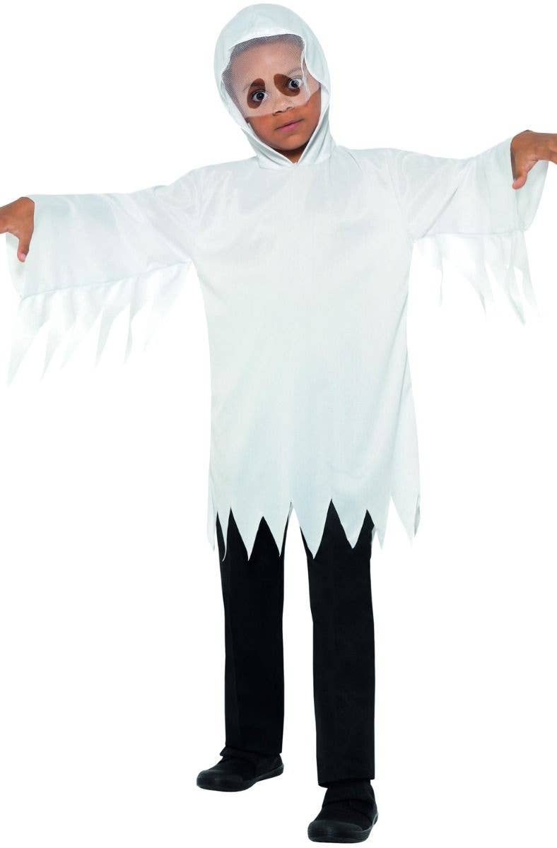 kids halloween white ghost robe spooky costume main image