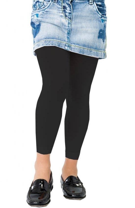 abdb4327d5c4e6 Children's Black Footless Tights | Kid's Hosiery | Girls Leggings