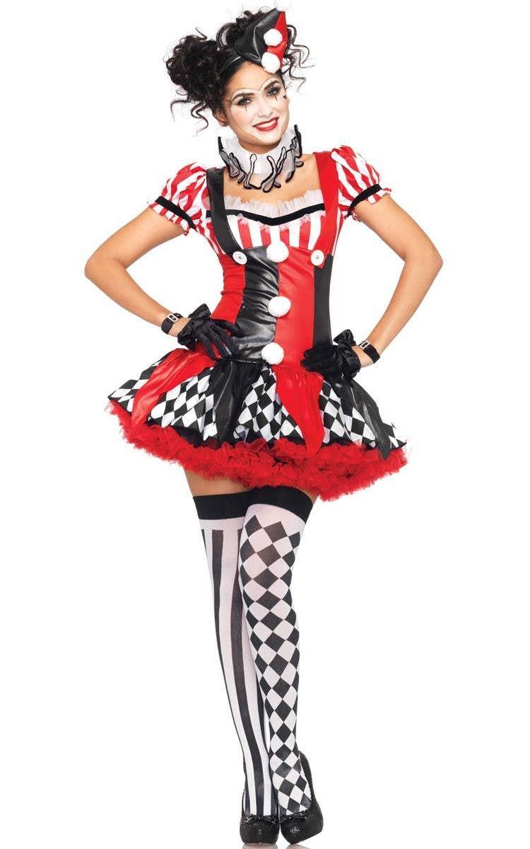 0d07f2502166f Harlequin Clown Women's Sexy Costume