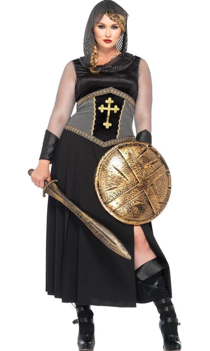 Plus Size Medieval Knight Costume Joan Of Arc Fancy Dress Costume
