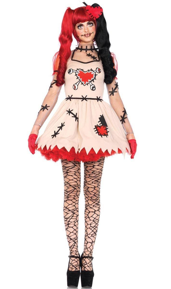 Women's Sexy Voodoo Doll Halloween Costume Front View