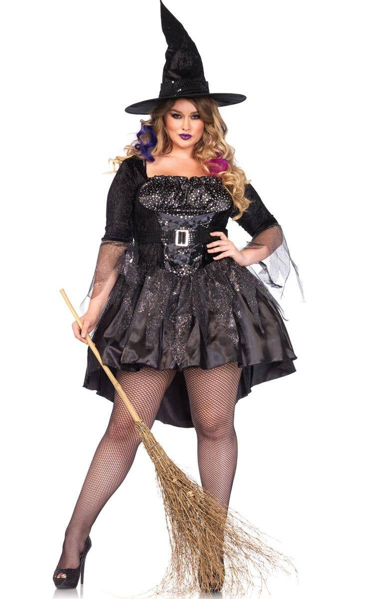 7dfa9b67861 Sexy Plus Size Black Witch Costume | Women's Witch Halloween Costume