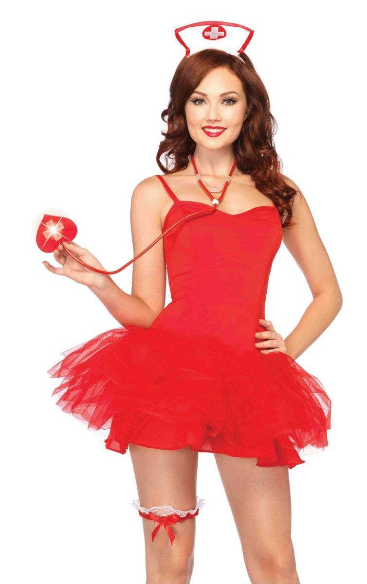 b5fb8452208d8 Red Naughty Nurse Costume Kit | Sexy Nurse Costume Accessory Set