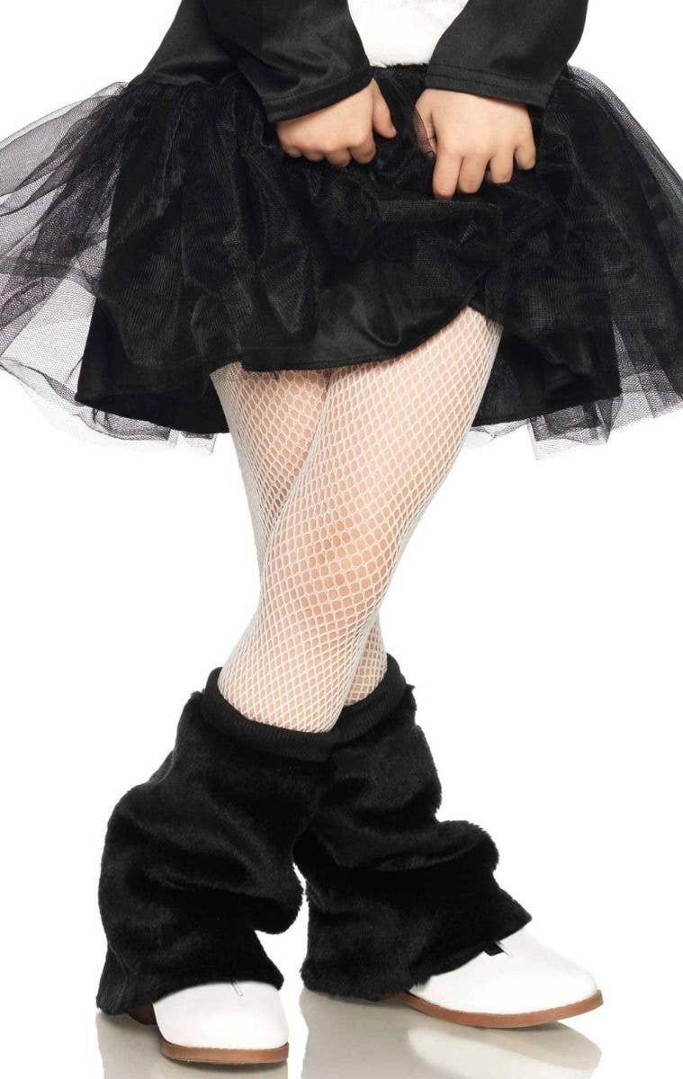 7660a98bb Girls White Fishnet Full Length Costume Stockings - Second Image