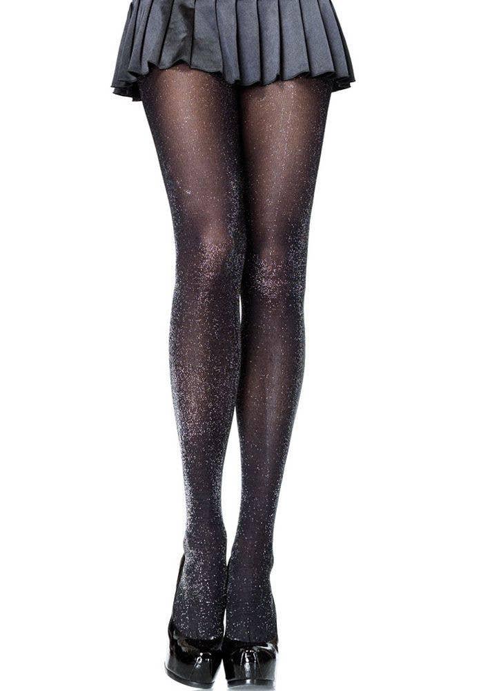 00727677380 Women s 1980 s Lurex Costume Stockings by Leg Avenue