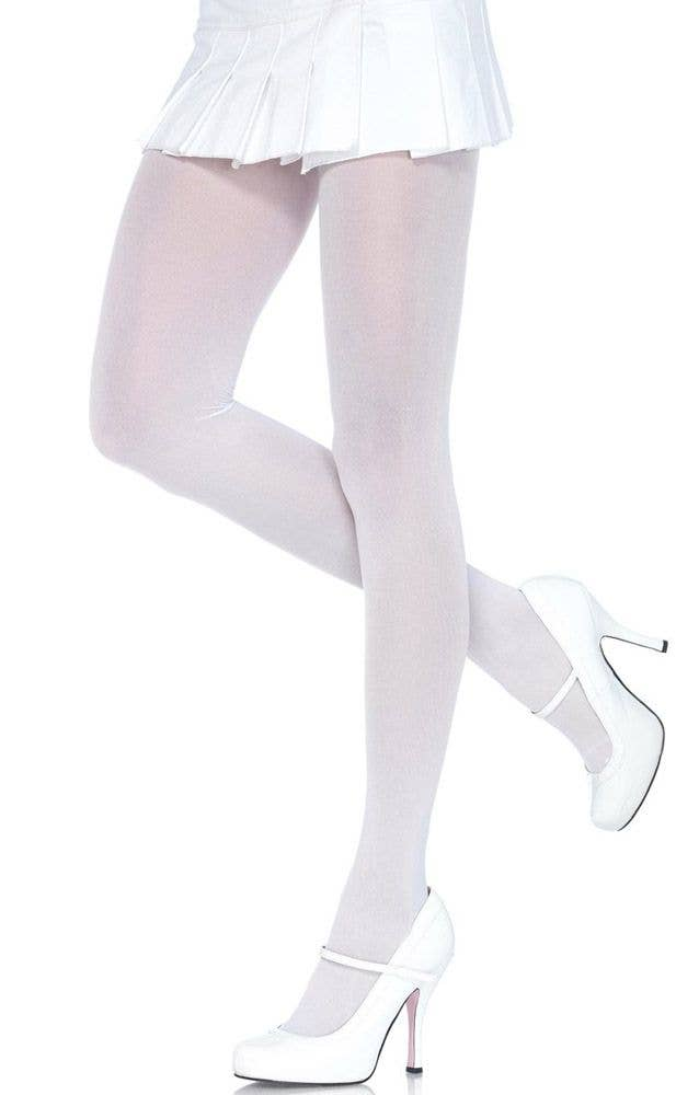 a72b78b595b5c White Women's Full Length Stockings | White Full Length Hosiery