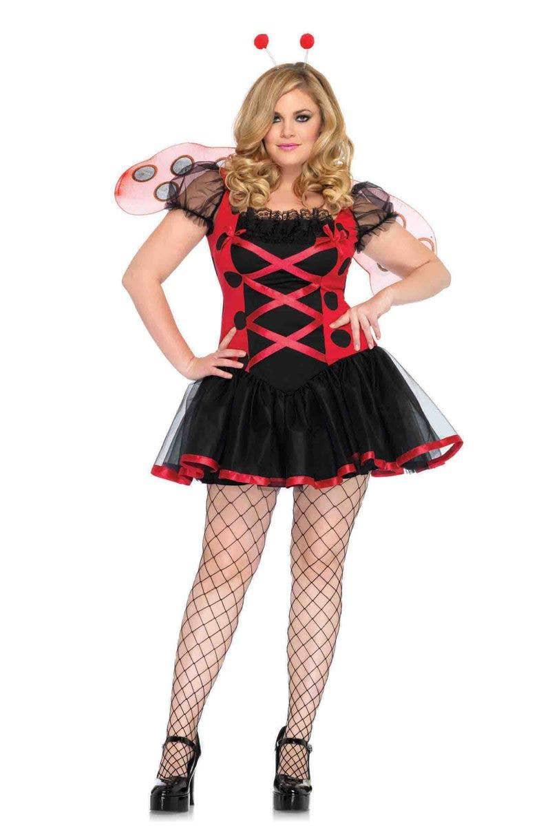Plus Size Ladybug Sexy Women's Costume Main Image