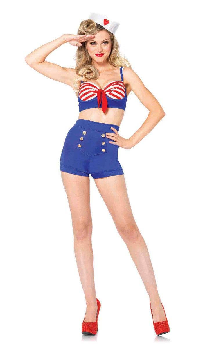 Sexy 1940 s Pin Up Sailor Costume Front View 546d7c8f96e0