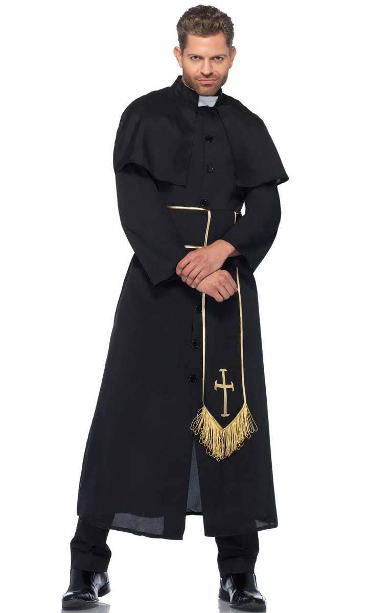 d8d4b40167 Men s Deluxe Priest Fancy Dress Costume