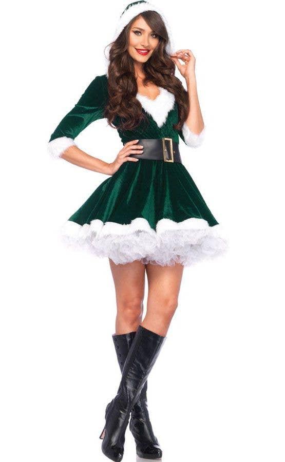 356e848db7d Mrs. Claus Green Velvet Sexy Women's Christmas Costume