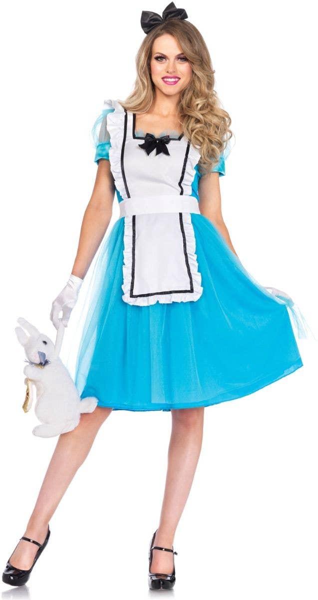 Womenu0027s Classic Alice In Wonderland Fancy Dress Costume Main Image