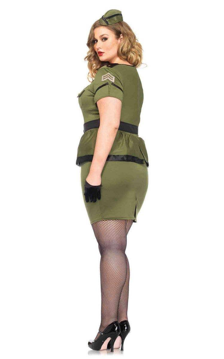 4c9b7cfaef Women s Army Officer Plus Size Women s Costume Back Image
