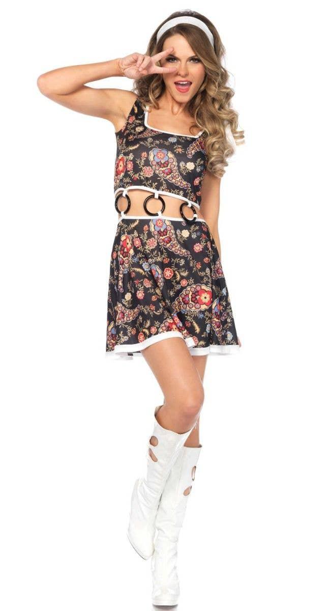 d5dc7f714f12 Sexy Women's Go-Go Costume | Go-Go Girl Women's Hippie Costume