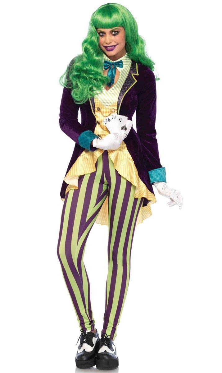 The Joker Women s Villain Fancy Dress Costume Front Image 5205fa463