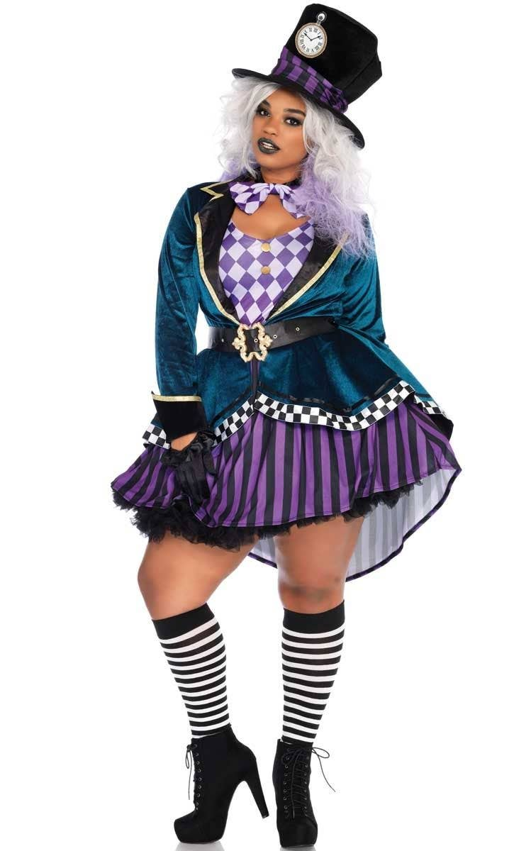 99eab1e5675 Mad Hatter Plus Size Women's Costume   Delightful Mad Hatter Costume