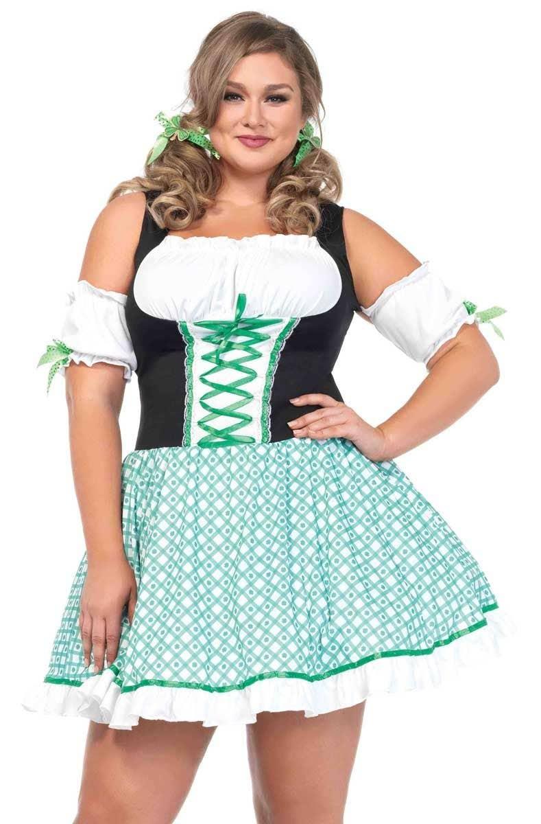 076a0390b06 Sexy Women s Plus Size St Patricks Day Irish Costume Front View