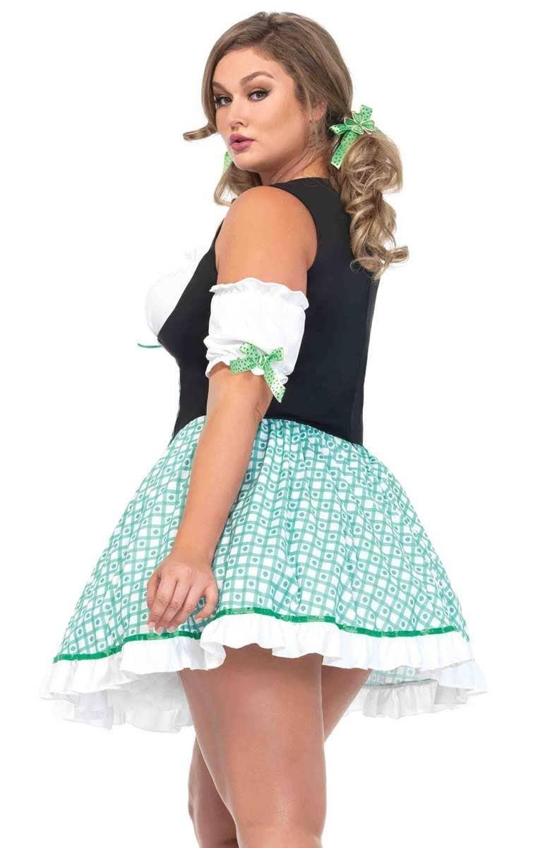 7055c743e2b Sexy Women s Plus Size St Patricks Day Irish Costume Back View