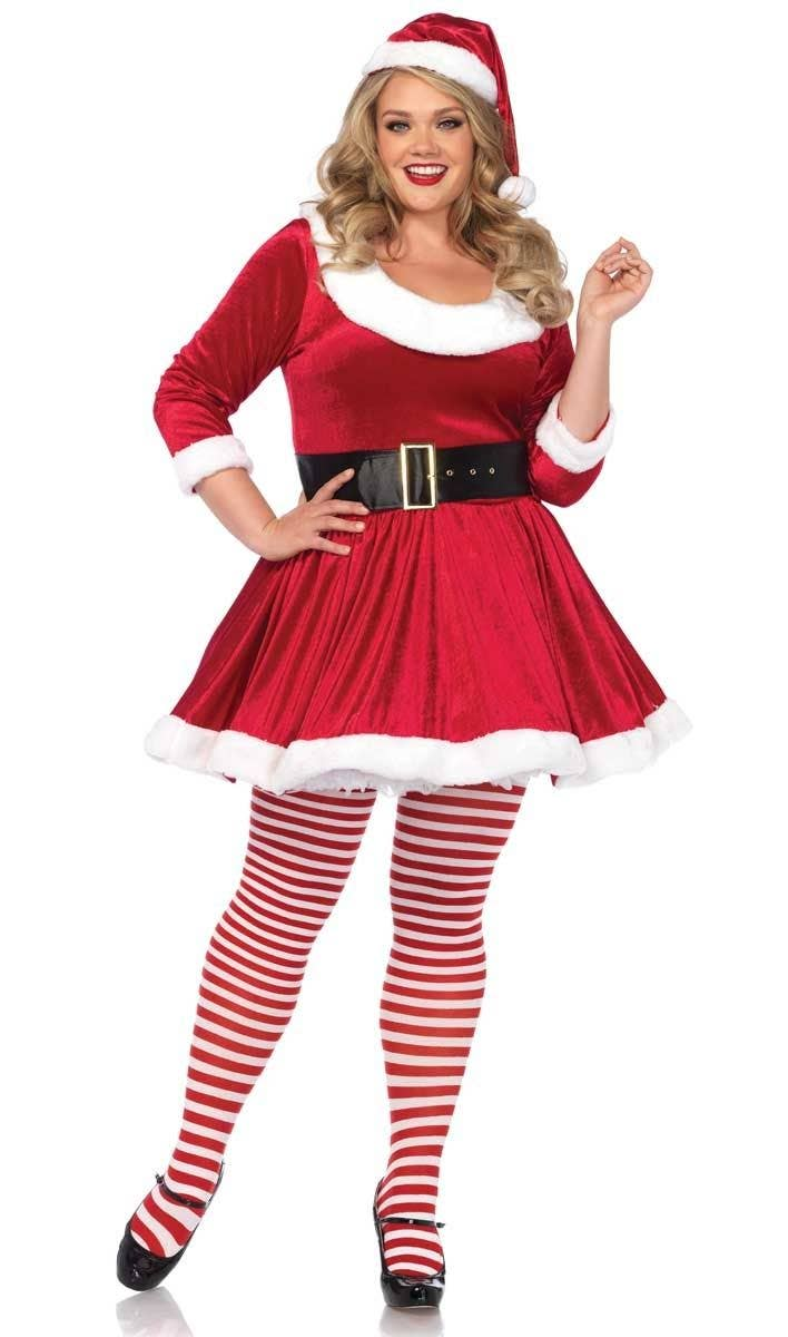 385e4f72d94 Women s Plus Size Sexy Santa Sweetie Chritmas Fancy Dress Costume Main Image