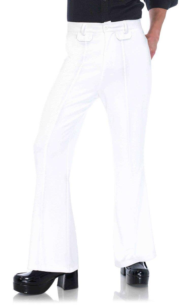 e0473cd57ef58 White Bell Bottom Men s 1970 s Costume Pants Main Image