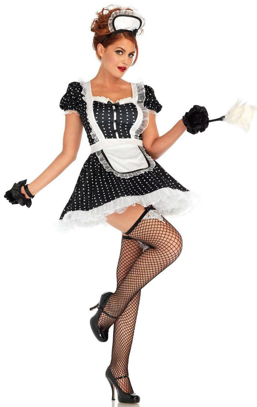 857ffa69ab8 Frisky French Maid Sexy Costume | Women's Maid Fancy Dress Costume