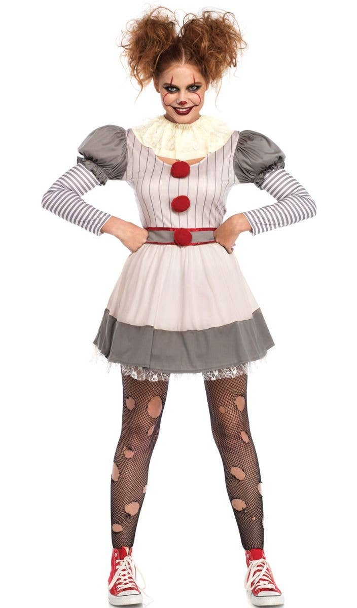 Creepy Clown Women\u0027s Pennywise Halloween Costume