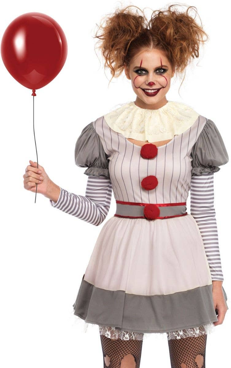 Scary Clown Women S Costume Pennywise It Women S Halloween Costume